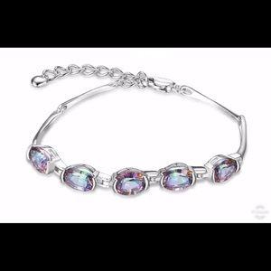 Natural Mystic Topaz & Silver Bracelet 1000001850